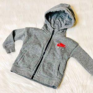 Nike Air grey hoodie jacket - 12month